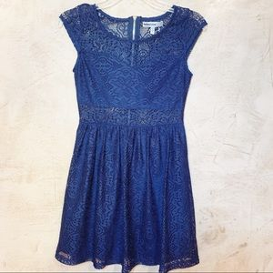 Bailey Blue Navy Blue Crocheted Lace Dress size S
